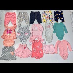 Girls Newborn Bundle. Tops. Bottoms. Size NB.